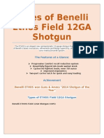 Types of Benelli Ethos Field 12GA Shotgun