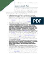 Sugerencias Para Mejorar La Web RCRC