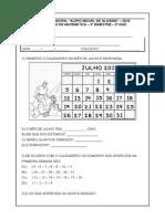 Avaliação Matemática