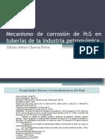 Mecanismo de Corrosión de H2S