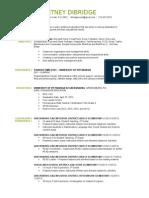courtney dibridge - resume 2015 - preschool (monroeville)