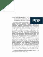 Casualdero, La Profecia Medieval en España