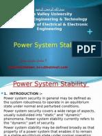 Presentation1 Power System Stability