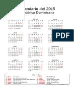 Calendario de República Dominicana Del 2015