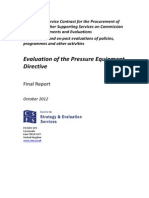 Evaluation of the Pressure Equipment Directive En