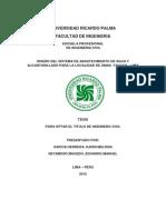 Tesis Diseño Del Sistema de Abastecimiento de Agua y Alcantarillado Para La Localidad de Omas -Yauyos - Lima
