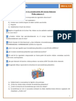 Ejercicios Tema 1 La Organización Del Cuerpo Humano 2014 15