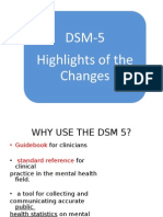 Highlights & Changes From DSM IV TR to DSM v Sec 1