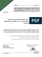 Efectos Del Entrenamiento de Fuerza Sobre La Resistencia Aerobica y La Capacidad de Aceleración