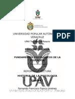 Reporte de Lectura Historia de La Psicología