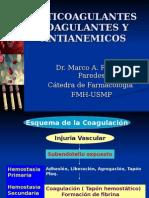 Farmacologia - Coagulantes, Anticoagulantes y Antianémicos
