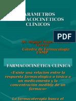 Farmacologia - Parámetros Farmacocinéticos