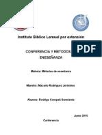Conferencia y Metodos