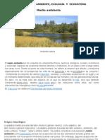 Semana 1- Ambiente, Medio Ambiente, Ecologãƒ-A y Ecosistema