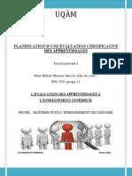 el kandoussi g11 - tp1  planification de l valuation certificative