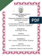 Ensayo La discriminacion Psicologia Social.docx