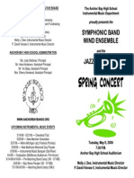 Anchor Bay HS Spring 2006 Band concert program