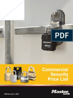 Master Lock Commercial Price Book- 2015