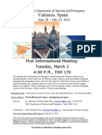 Valencia Information Meeting