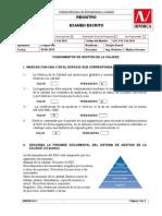 Examen EGC1-15 ISO 9000