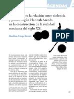 Estudio sobre la relación entre violencia y poder, según Hannah Arendt, en la construcción de la realidad mexicana del siglo XXIteaga Poder Mexico