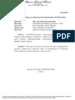 RE 597854 - Cursos de Especializacao - Pagamento de Mensalidade