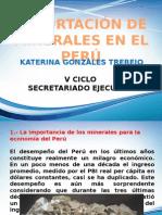 EXPORTACIÓN MINERALES EN EL PERÚ