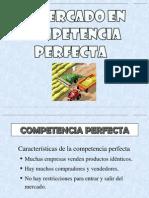 El Mercado en Competencia Perfecta