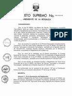 Reglamento de Ley de investigación Perú