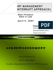 Memory Management (Interrupt Priority approach) ppt