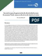 Incentivos para la generación de electricidad en una Economía Verde