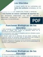 Funciones de Los Glucidos