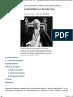 Modernismo, (Enciclopedia Cattolica) Por Cornelio Fabro - Santo Tomás de Aquino