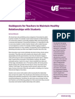 UE Guideposts for TeacherstoMaintain Healthy Relationships With Students