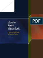 Educator Sexual Misconduct Policy and Audit Guide