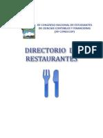 Directorio de Restaurantes