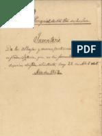 Inventario Parroquia Ntra. Sra. de la Luz 1862