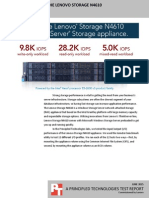 I/O performance of the Lenovo Storage N4610