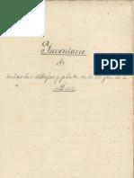 Inventario alhajas Virgen de la Luz 1882