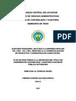 Modelo de Plan de Tesis Auditoria Financiera