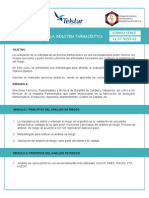 Analisis de Riesgo en La Industria Farmaceutica