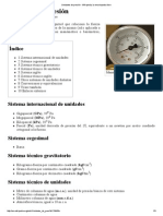 Unidades de Presión - Wikipedia, La Enciclopedia Libre