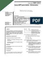 NBR 12912 - Rosca Npt Para Tubos - Dimensões