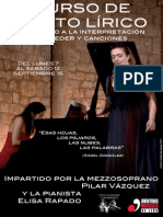 CURSO DE CANTO LÍRICO A CARGO DE PILAR VÁZQUEZ Y ELISA RAPADO