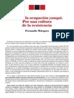 Contra La Ocupacion Yanqui Fernando Marquez