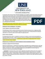 UNE Immunization Compliance Policy
