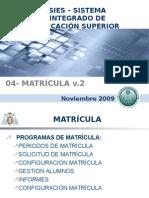 04- Sies Matricula