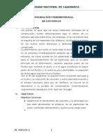 CONSOLIDACIÓN UNIDIMENSIONAL DE LOS SUELOS