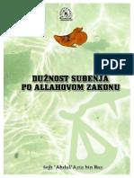 Abdulaziz bin Baz - Duznost sudjenja po Allahovom zakonu.pdf