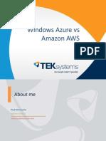 Azure vs Amazon